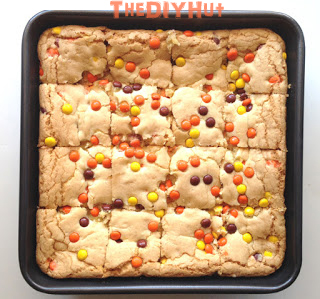 Cake Mix Reese's Pieces Cookie Bars Recipe2